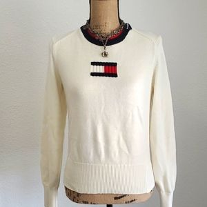 Y2K Tommy Hilfiger Cream Colored Sweater